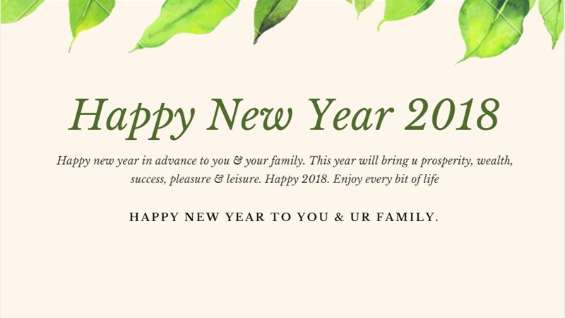 happy new year 2018 in advance to you